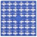 Carré couleur Bleu Mer 294
