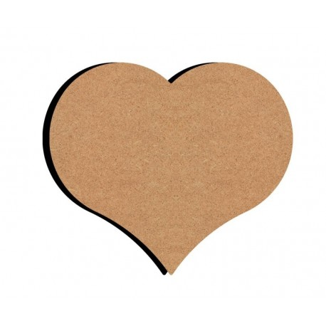 Support bois MDF 15 cm Coeur