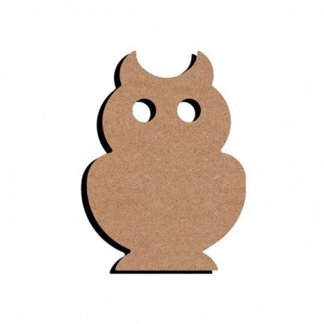 Support bois MDF 15 cm Chouette
