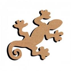 Support bois à décorer MDF - Gecko 15 cm/26 cm