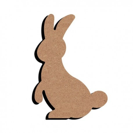 Support bois MDF 15 cm Lapin