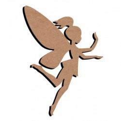Support bois à décorer MDF - Fairy 15 cm/26 cm
