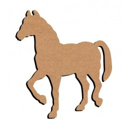 Support bois MDF 26 cm Cheval