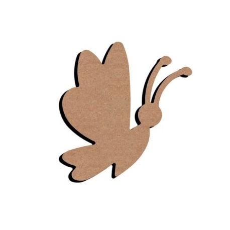 Support bois à décorer MDF - Papillon en Vol 15 cm/26 cm