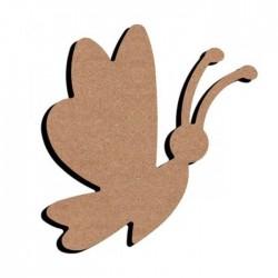 Support bois MDF 15 cm Papillon en vol