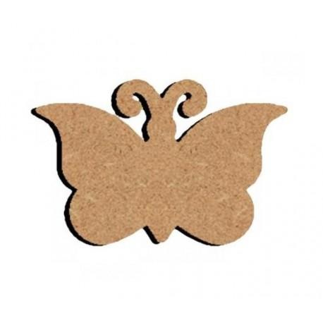Support bois MDF 15 cm Papillon Plat