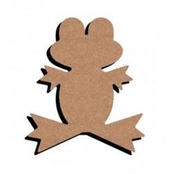 Support bois à décorer MDF - Grenouille 15 cm