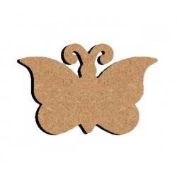 Support bois à décorer MDF - Papillon Plat 15 cm/26 cm