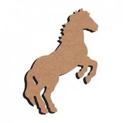 Support bois à décorer - Cheval cabré 26cm