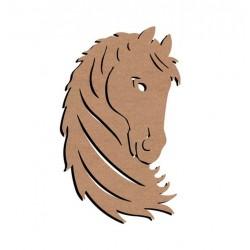 Support bois MDF 58 cm Tête de cheval