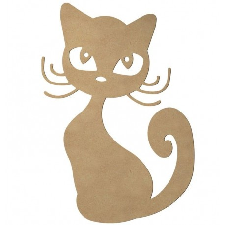 Support bois MDF 58 cm Chat