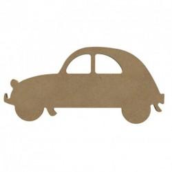 Support bois à décorer MDF - Voiture 15 cm