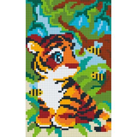 Kit Tigre dans la Jungle 2 Plaques