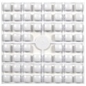 Carré couleur Blanc 100 XL