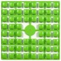 Carré couleur Vert Anis 343 XL