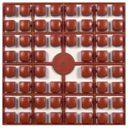 Carré couleur Marron Roux 353 XL