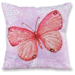 Kit Coussin Papillon Rose