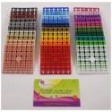 Lot 32 carrés couleurs