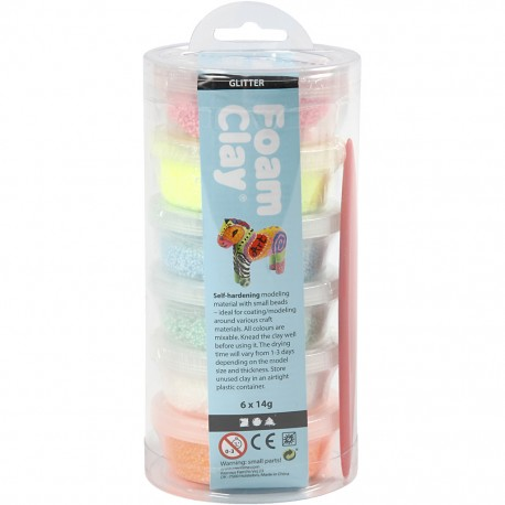 Pack 6 couleurs pailletées pots x 14gr