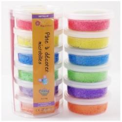 Pâte à décorer - Pack 6 couleurs Métalliques